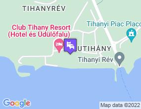 Club Tihany Hotel a térképen